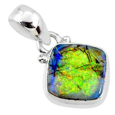 3.66cts multi color sterling opal 925 sterling silver pendant jewelry r64323