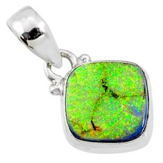 3.63cts multi color sterling opal 925 sterling silver pendant jewelry r64325