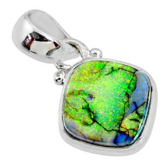 3.65cts multi color sterling opal 925 sterling silver pendant jewelry r64331