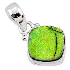 3.57cts multi color sterling opal 925 sterling silver pendant jewelry r64334