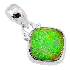 3.63cts multi color sterling opal 925 sterling silver pendant jewelry r64335