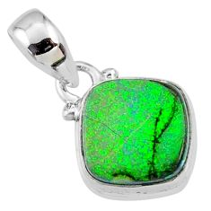 3.54cts multi color sterling opal 925 sterling silver pendant jewelry r64337
