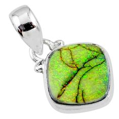 3.63cts multi color sterling opal 925 sterling silver pendant jewelry r64340