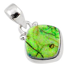 3.97cts multi color sterling opal 925 sterling silver pendant jewelry r64347