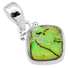 3.97cts multi color sterling opal 925 sterling silver pendant jewelry r64350