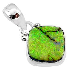 3.87cts multi color sterling opal 925 sterling silver pendant jewelry r64354