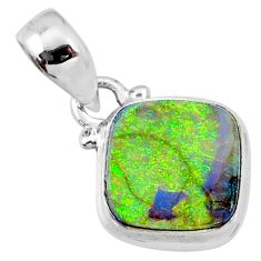 3.82cts multi color sterling opal 925 sterling silver pendant jewelry r64355
