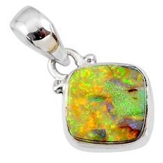3.55cts multi color sterling opal 925 sterling silver pendant jewelry r64360