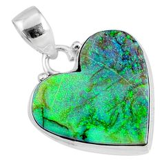 9.62cts multi color sterling opal 925 sterling silver pendant jewelry r70128