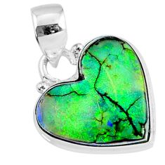 8.35cts multi color sterling opal 925 sterling silver pendant jewelry r70132