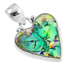 8.21cts multi color sterling opal 925 sterling silver pendant jewelry r70133
