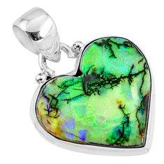 7.82cts multi color sterling opal 925 sterling silver pendant jewelry r70137