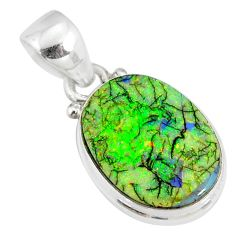 8.00cts multi color sterling opal 925 sterling silver pendant jewelry r77941