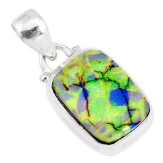 3.94cts multi color sterling opal 925 sterling silver pendant jewelry r84422