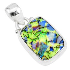 3.93cts multi color sterling opal 925 sterling silver pendant jewelry r84436
