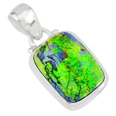 4.21cts multi color sterling opal 925 sterling silver pendant jewelry r84439