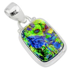 4.54cts multi color sterling opal 925 sterling silver pendant jewelry r84440