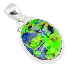 8.15cts multi color sterling opal 925 sterling silver pendant jewelry r84441