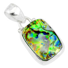 4.52cts multi color sterling opal 925 sterling silver pendant jewelry r84442