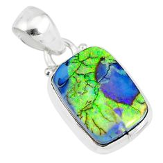 4.28cts multi color sterling opal 925 sterling silver pendant jewelry r84457