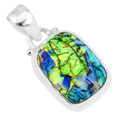 3.76cts multi color sterling opal 925 sterling silver pendant jewelry r84459