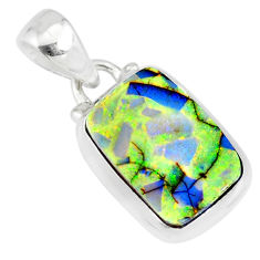 3.93cts multi color sterling opal 925 sterling silver pendant jewelry r84468
