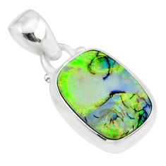 3.62cts multi color sterling opal 925 sterling silver pendant jewelry r84622