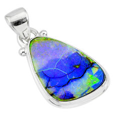 8.12cts multi color sterling opal 925 sterling silver handmade pendant r92536