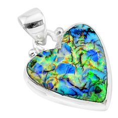 8.39cts multi color sterling opal 925 sterling silver handmade pendant r92542