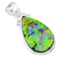 8.00cts multi color sterling opal 925 sterling silver handmade pendant r92543