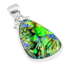 8.56cts multi color sterling opal 925 sterling silver handmade pendant r92547