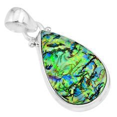 9.37cts multi color sterling opal 925 sterling silver handmade pendant r92566