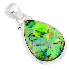 8.51cts multi color sterling opal 925 sterling silver handmade pendant r92594