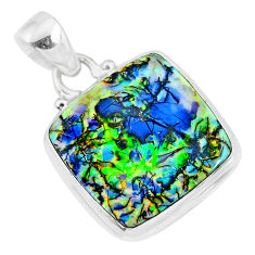 10.32cts multi color sterling opal 925 sterling silver handmade pendant r92598