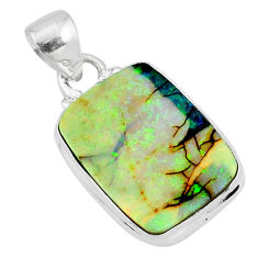 8.49cts multi color sterling opal 925 sterling silver pendant jewelry r95943
