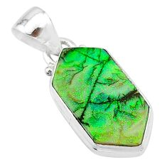 4.59cts multi color sterling opal 925 sterling silver pendant jewelry t13641