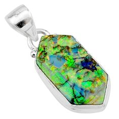4.94cts multi color sterling opal 925 sterling silver pendant jewelry t13646