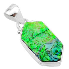 4.59cts multi color sterling opal 925 sterling silver pendant jewelry t13648