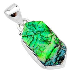 4.91cts multi color sterling opal 925 sterling silver pendant jewelry t13650