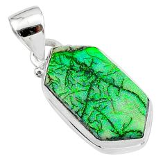 4.53cts multi color sterling opal 925 sterling silver pendant jewelry t13663