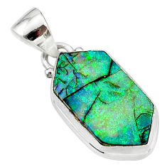 4.59cts multi color sterling opal 925 sterling silver pendant jewelry t13666