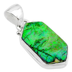 4.56cts multi color sterling opal 925 sterling silver pendant jewelry t13667