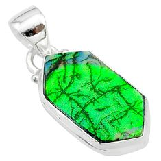 4.63cts multi color sterling opal 925 sterling silver pendant jewelry t13669