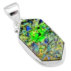 4.63cts multi color sterling opal 925 sterling silver pendant jewelry t13670