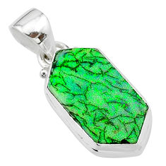 4.92cts multi color sterling opal 925 sterling silver pendant jewelry t13675