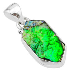 4.63cts multi color sterling opal 925 sterling silver pendant jewelry t13678