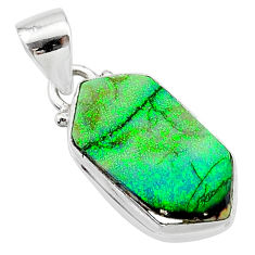 4.89cts multi color sterling opal 925 sterling silver pendant jewelry t13685