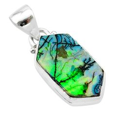 5.21cts multi color sterling opal 925 sterling silver pendant jewelry t13697
