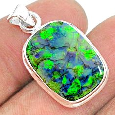 5.87cts multi color sterling opal 925 silver pendant jewelry t34549