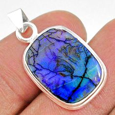 5.87cts multi color sterling opal 925 silver pendant jewelry t34567